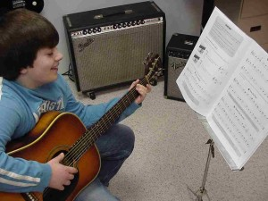 Guitar lessons are fun! At Euphonic we will teach you how to play multiple styles of music on acoustic or electric instruments