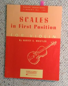 Harvey Whistler 1st position scales for violin