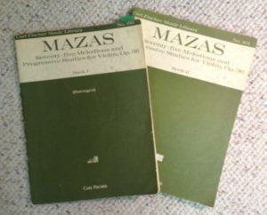 Mazas violin curriculum